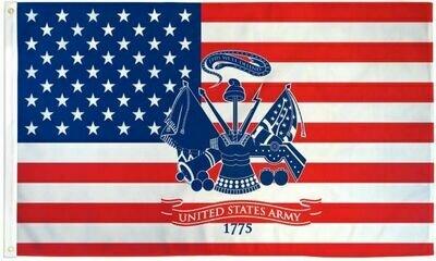 AMERICAN W/ ARMY FLAG