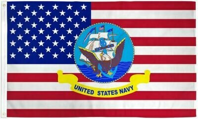 AMERICAN W/ NAVY FLAG