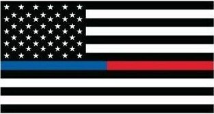 BLUE AND RED LIVES MATTER FLAG