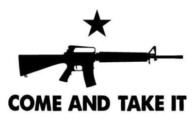 COME AND TAKE IT M16 FLAG