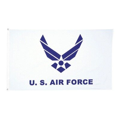 US AIR FORCE LOGO FLAG