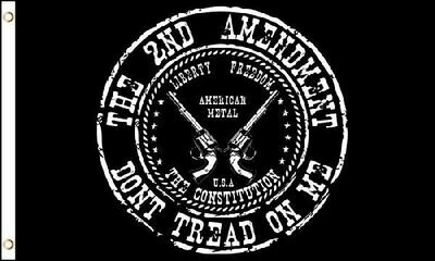 2ND AMENDMENT DONT TREAD ON ME FLAG
