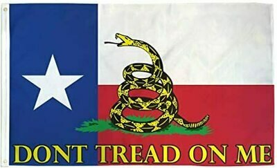 DONT TREAD ON ME TEXAS FLAG