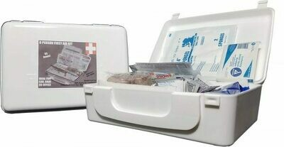 WHITE SERIES FIRST AID KIT 8 PERSON UNIT