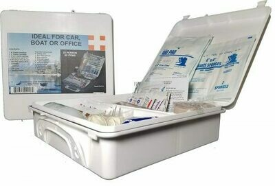 WHITE SERIES FIRST AID KIT 25 PERSON UNIT