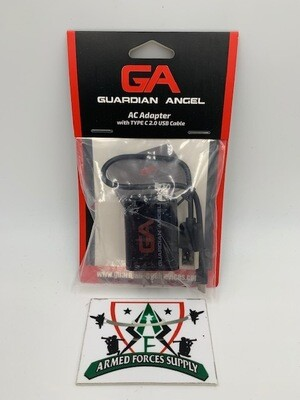 GUARDIAN ANGEL AC ADAPTER W/ TYPE C 2.0 USB CABLE