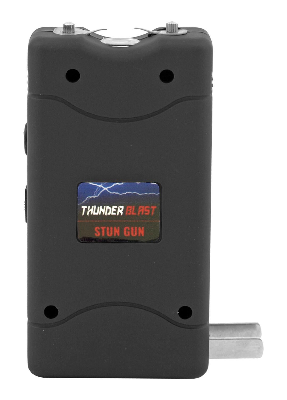 BLACK THUNDER BLAST RECHARGEABLE STUN GUN FLASHLIGHT