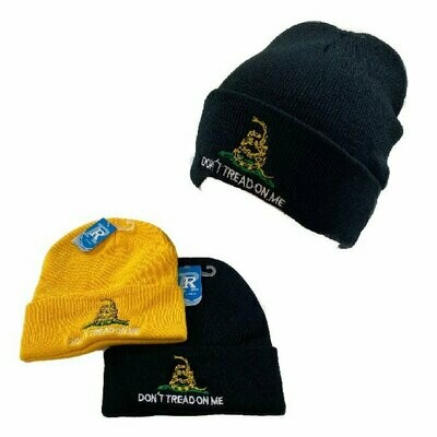DON'T TREAD ON ME EMBROIDERED CUFFED BEANIE
