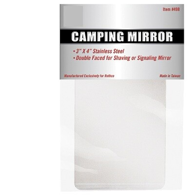 STAINLESS STEEL CAMPING MIRROR