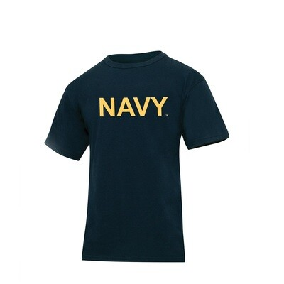 NAVY WITH DISTRESSED FLAG T-SHIRT
