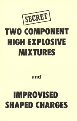 EXPLOSIVE MIXTURES AND SHAPED CHARGES MANUAL