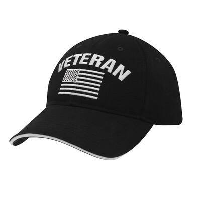 BLACK VETERAN BALL CAP