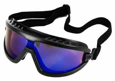 BLACK/BLUE MIRRORED SAFETY GLASSES