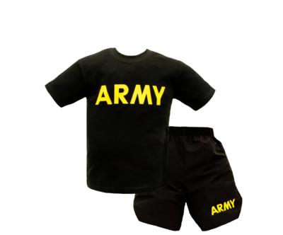 MEDIUM 2PC KIDS ARMY PT SET