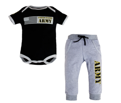 0/3MONTH 2PC ARMY JOGGER SET