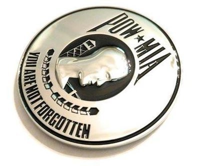 POW MIA Full Metal Car Emblem