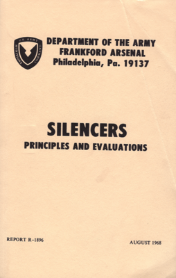 SILENCERS PRINCIPALS AND EVALUATIONS R-1896