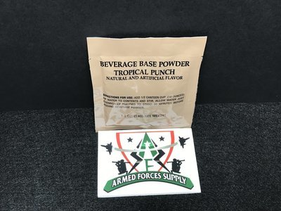 MILITARY MRE TROPICAL PUNCH DRINK MIX BEVERAGE POWDER