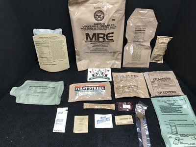 MRE MEAL #11 VEGETABLE CRUMBLES W/ PASTA IN TACO STYLE SAUCE
