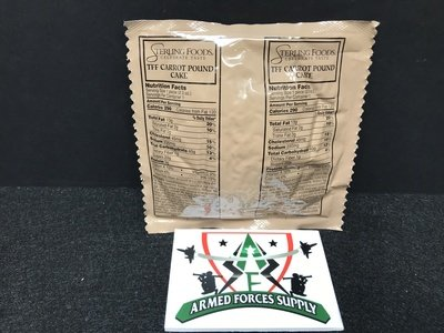 MILITARY MRE MRE'S CARROT POUND CAKE