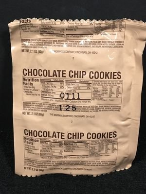 MILITARY MRE MRE'S DESSERT CHOCOLATE CHIP COOKIE
