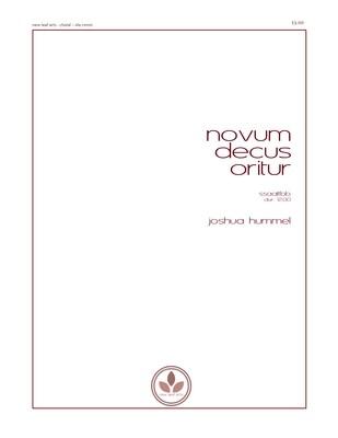 NOVUM DECUS ORITUR - SSAATTBB