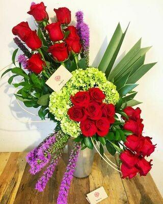 Hebe - Rosas y Hortensias.