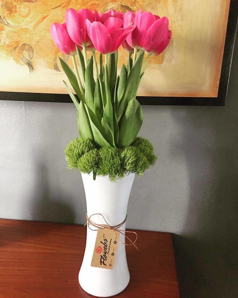 Tulipanes en Cristal