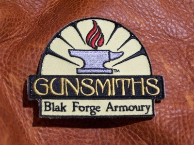 Flaming Anvil Patch