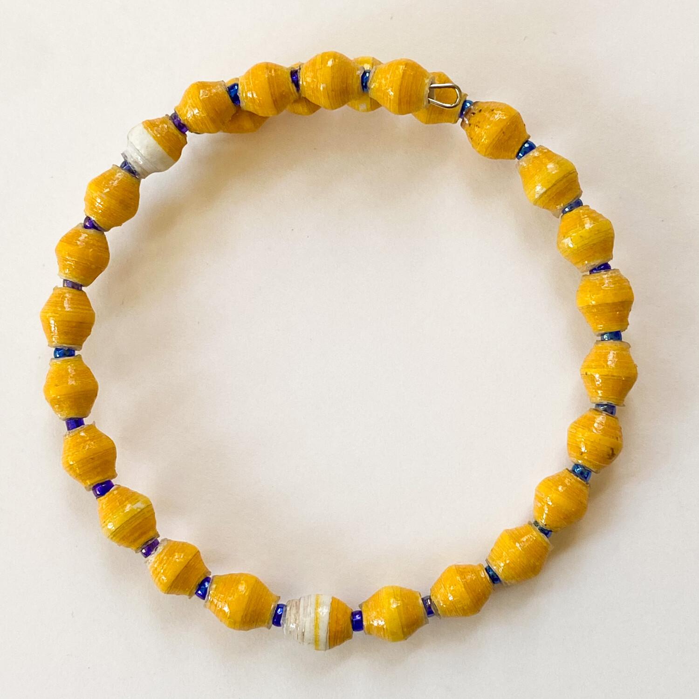 Over Easy Single Strand Memory Wire Bracelet