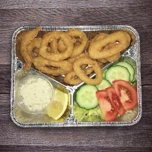 Calamars frits garni