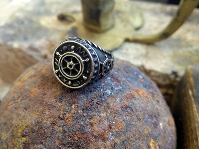 PIRATE Bronze Helm Ring