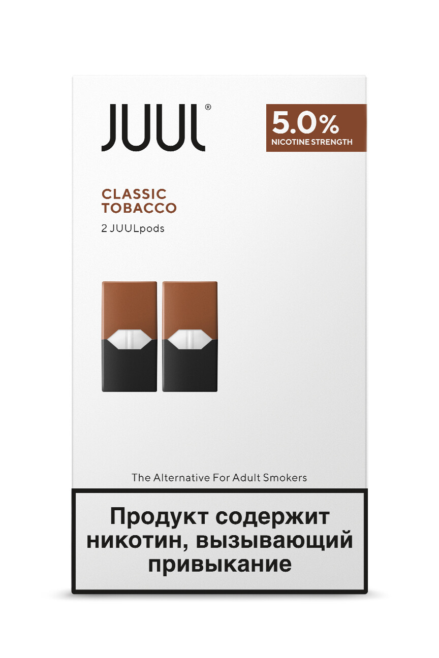 JUUL: TOBACCO СМЕННЫЕ КАРТРИДЖИ 2ШТ