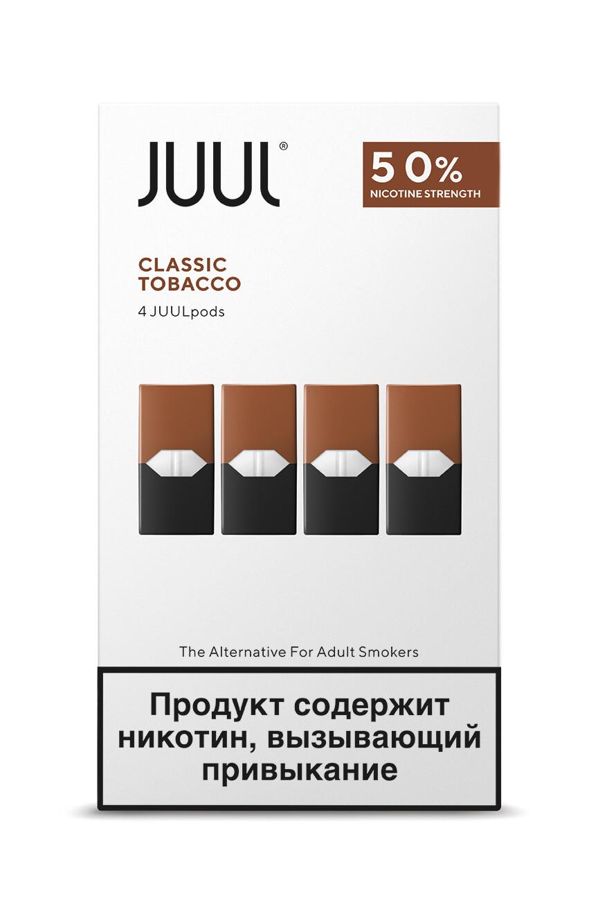 JUUL: TOBACCO СМЕННЫЕ КАРТРИДЖИ 4ШТ