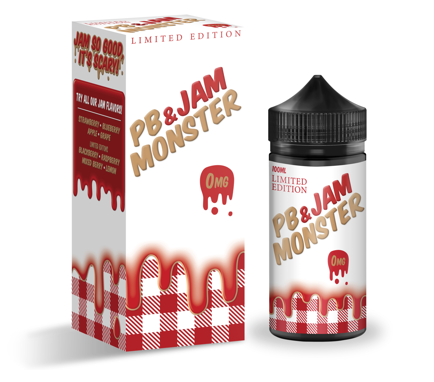 JAM MONSTER PB & JAM: STRAWBERRY 100ML
