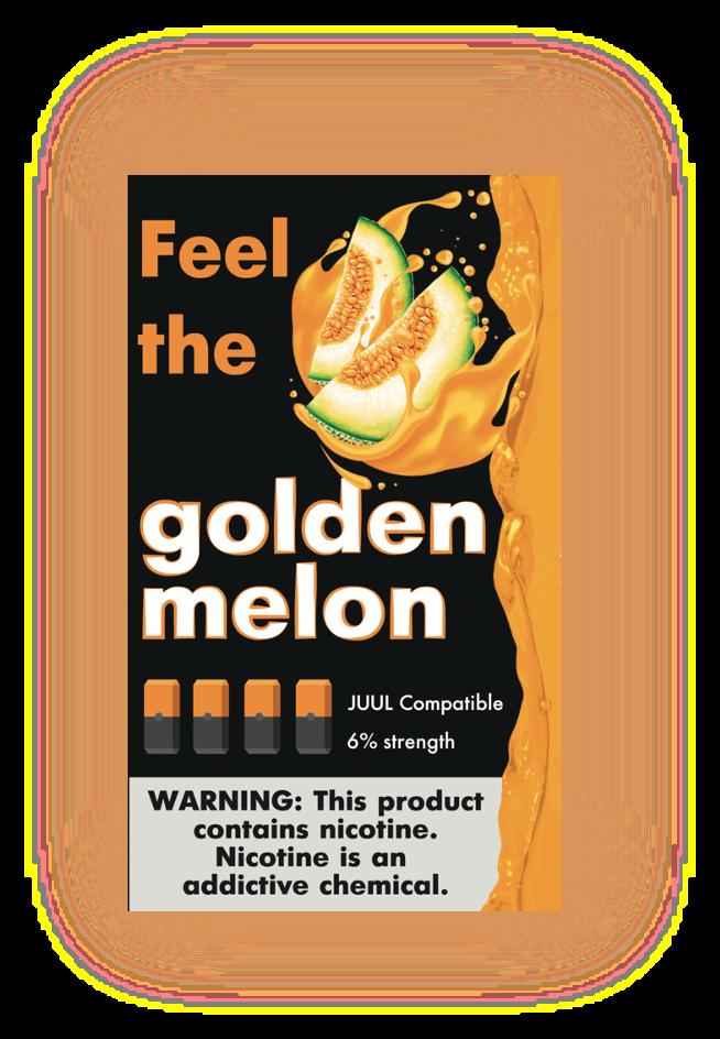 FEEL THE FLAVOR: GOLDEN MELON  СМЕННЫЕ КАРТРИДЖИ ДЛЯ JUUL 2 ШТ