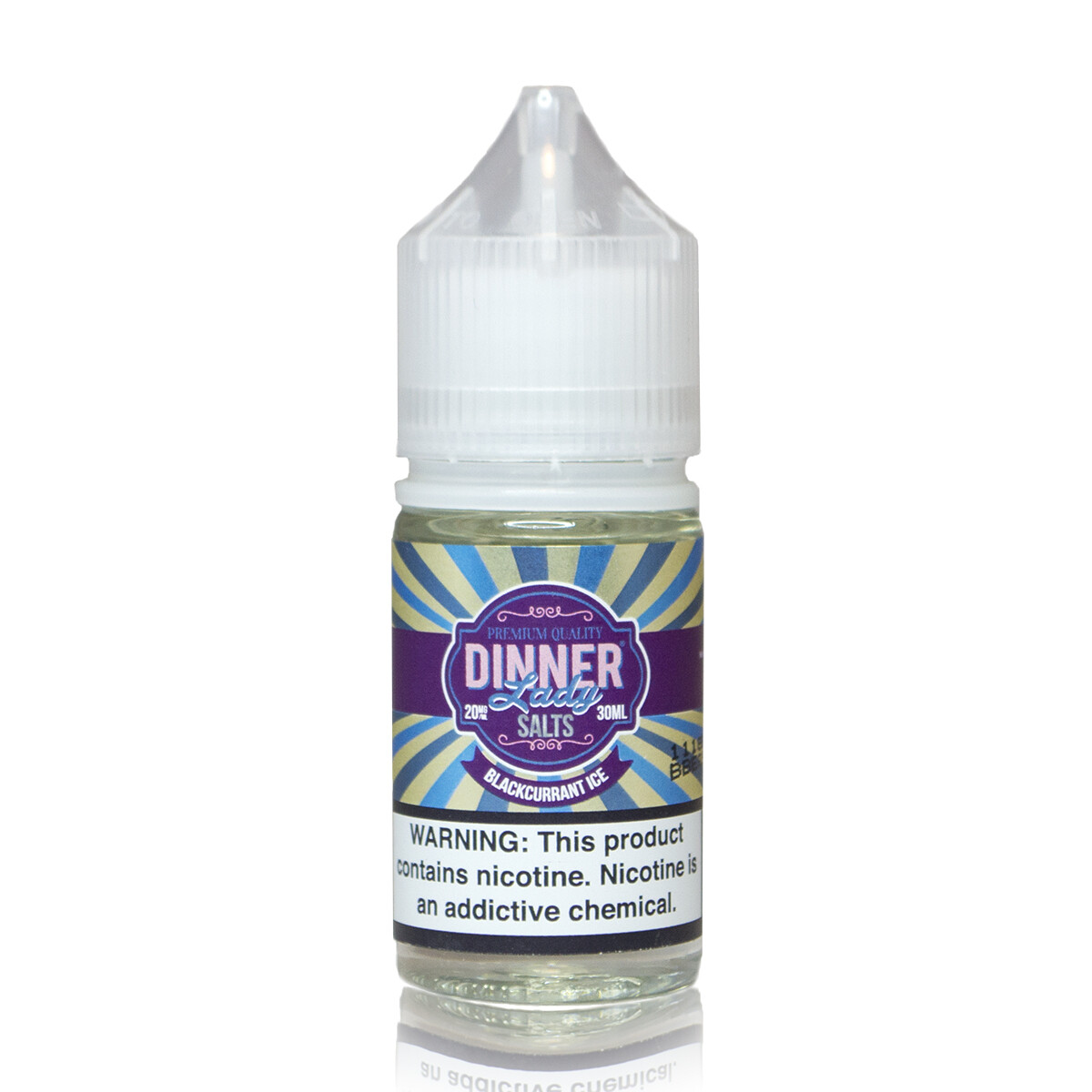 ЖИДКОСТЬ DINNER LADY ICE SALT: BLACKCURRANT 30ML