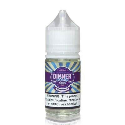 ЖИДКОСТЬ DINNER LADY ICE SALT: BLACKCURRANT 30ML