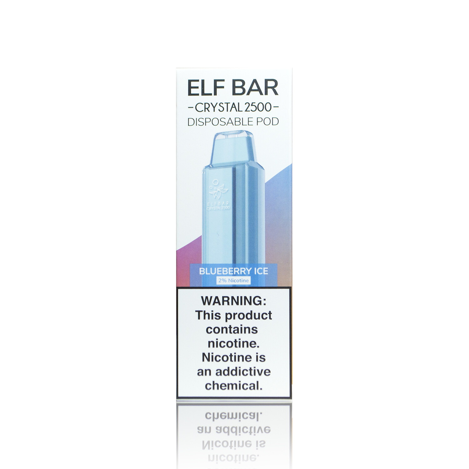 ELF BAR CRYSTAL 2500: BLUEBERRY ICE