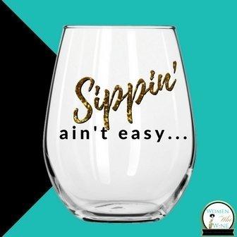 WWWD 21 oz. Stemless Wine Glass