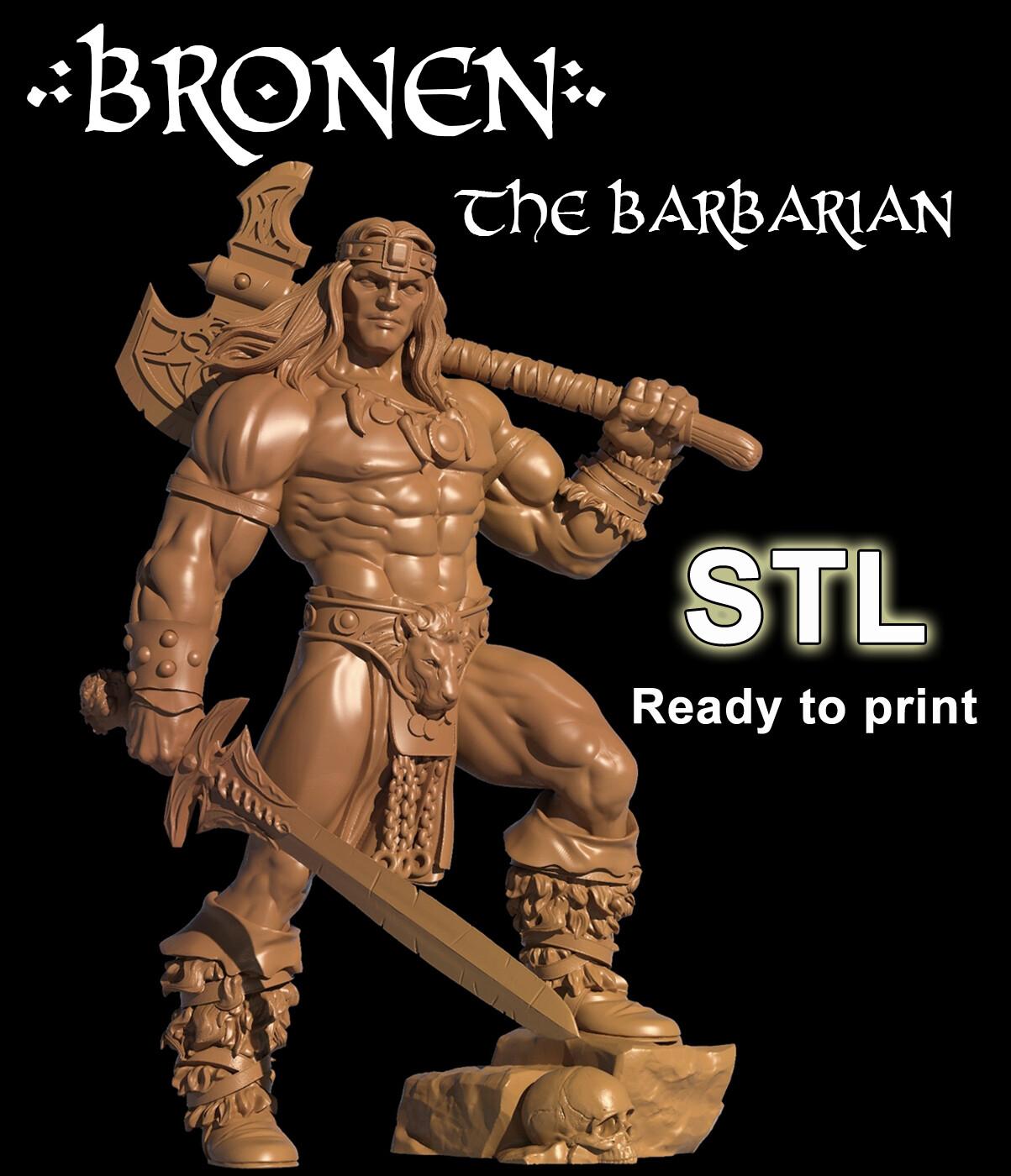 BRONEN THE BARBARIAN STL