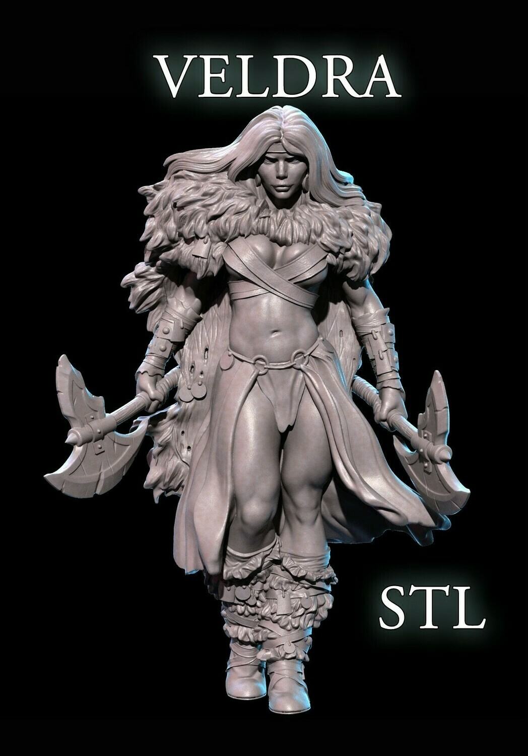 VELDRA THE BARBARIAN STL