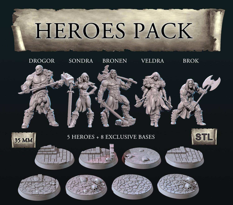 HEROES PACK STL