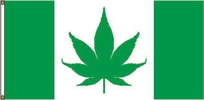 CANNABIS CANADA FLAG 36 X 72 inches (free shipping) / DRAPEAU CANNABIS CANADA 36 x 72 pouces (livraison incluse)