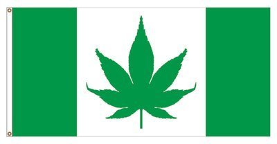 CANNABIS CANADA FLAG 18 X 36 inches (free shipping) / DRAPEAU CANNABIS CANADA 18 x 36 pouces (livraison incluse)