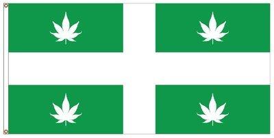 CANNABIS Drapeau du Québec (36 x 72 pouces) /  CANNABIS Quebec flag (36 x 72 inches)