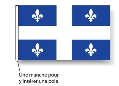 Drapeau du Québec (12 x 18 pouces)