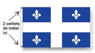Drapeau du Québec (36 x 72 pouces) / transport gratuit