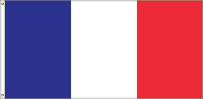 Drapeau de la France (27 x 54 pouces)