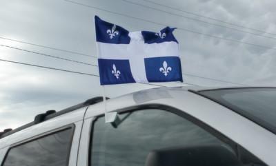 Québec - Drapeau d'auto (12 x 18 pouces)